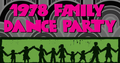 1978 Family Dance Party: Saturday 3rd February – 2pm