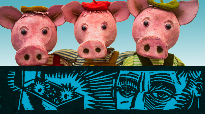 Three Little Pigs by Garlic Theatre: Thursday 25th October 3pm Free craft from 2pm